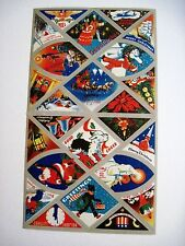WWII Christmas Stickers - A Complete Set w/ Original Envelope *