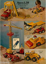 1973 PAPER AD 2 Pg Construction Nylint Structo Gama A9 Crane German Robot Giant