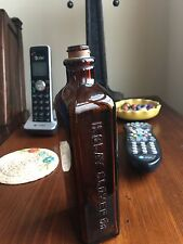 Vintage Embossed H. Clay Glover Co, New York Brown Medicine Bottle