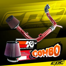 00-04 Ford Focus 2.0L 4cyl DOHC Red Cold Air Intake + K&N Air Filter