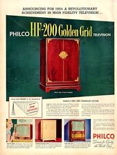 1953 Philco Cabinet television four models PRINT AD
