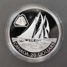 "2000 CANADIAN .925 $20 COIN ""The Bluenose"" with Original Packaging & COA"
