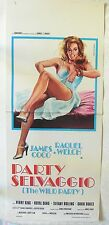LOCANDINA, PARTY SELVAGGIO (THE WILD PARTY) RAQUEL WELCH, JAMES COCO, POSTER