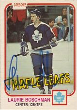 Laurie Boschman Signed card O-Pee-Chee 82-83 COA 3/13