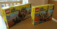 Lego Lone Ranger 79108 Stagecoach Escape & 79107 Comanche camp NEW Sealed sets