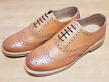 Gorgeous Tan Brogue Goodyear Welted Leather Shoes *Not Loake, Grenson, Church's*