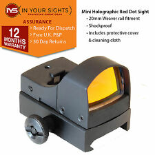 Mini holographique red dot sight/Weaver rail carabine ou pistolet vue/viseur reflex