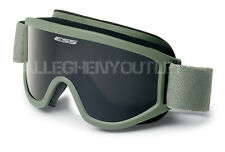 OAKLEY ESS Land Ops Green Frame / Dark Lens Ski Snow Board Winter Goggles VGC