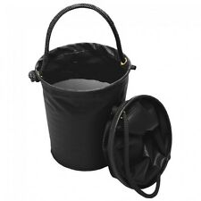 Tough 1 black collapsible water bucket in carrying case horse tack 72-1819