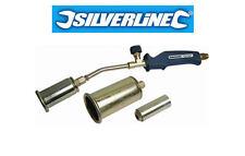 Silverline Propane Gas Burner Torch Kit + 3 Nozzles Plumbing/Soldering 456996