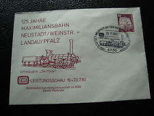 ALLEMAGNE (rfa) - enveloppe 20/7/1980 (train) (cy51) germany