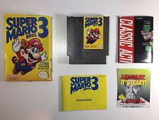 Super Mario Bros. 3 -- NES Nintendo COMPLETE Game BOX CIB Manual Inserts