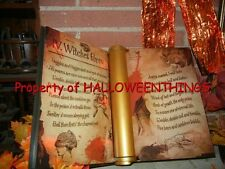 ANIMATED BOOK OF BLACK MAGIC SPELLS LIGHTED / TALKING HALLOWEEN PROP (see video)