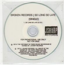 (GE146) Broken Records, So Long So Late - 2014 DJ CD