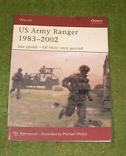 OSPREY MILITARY WARRIOR SERIES 65 US ARMY RANGER 1983-2002
