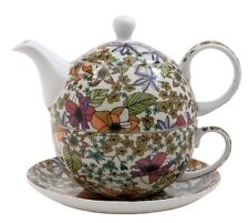 "Chelsea Chintz Tea for One Set (C) - 10 Ounce Cup, 6"" Saucer, 2 Cup Tea Pot"