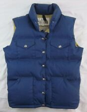 The North Face Womens Size Large Vintage Brown Label Blue Goose Down Puffer Vest