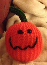 HAND KNITTED CATNIP PUMPKIN - LARGE - SOLD FOR WHINNYBANK CATS