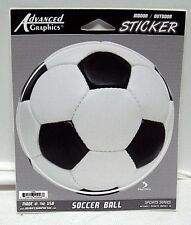 Soccer Ball Black/White Advanced Graphics Indoor/Outdoor Sticker Decal Sports