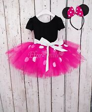 Toddler Girls Kids Minnie Mouse Ballet Tutu Fancy Dress Halloween Party Costume