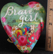 Brave Girl Floral Heart Lock Key Figurine Melody Ross Demdaco Art Hearts