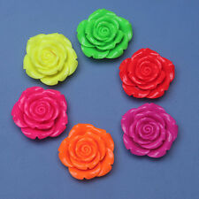New 10pcs 42mm Neon Resin Flower Pendant Charm Bracelet Necklace Jewelry Mixed
