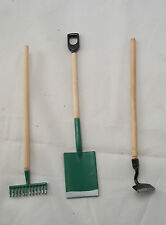 "Garden Tools Set  dollhouse miniature furniture 1/12"" scale T8107 metal & wood"