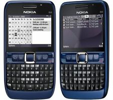 Original Nokia E63 Blue Unlocked Camera QWERTY Keypad Wifi 3G Mobile Cell Phone