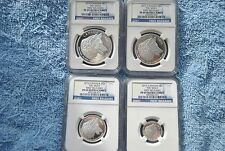 2016, Canada, NGC, 4 coin silver wolf set, PF69 UC, First Releases