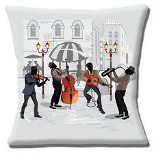 "Vintage Retro Jazz Musicians 16"" Pillow Cushion Cover"