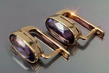 veax001rp Russian rose Soviet gold Alexandrite earrings - Au925 low price rep!