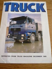 FODEN 4300 8 X 4 TRUCK LORRY ROAD TEST BROCHURE jm