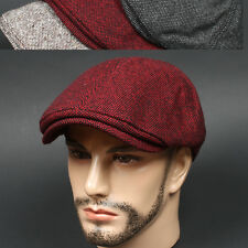 Newsboy Beret IDS RED Cabbie Flat Cap Golf Fashion Hunting Driving Hat Unisex