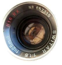 Kern-Paillard SWITAR 25mm 1,5 f1.5 H16 RX C mount Lens Bolex