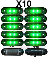 10x 12V/24V FLUSH FIT GREEN LED MARKER LAMPS/LIGHTS KELSA BAR TRUCK VAN LORRY