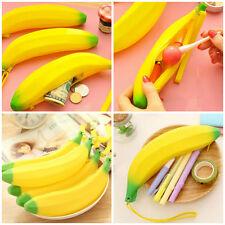 New Silicone Portable Banana Coin Pencil Cosmetic Makeup Case Purse Bag Wallet