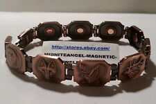 COPPER BEAR WOLF DUCK DEER HUNTING MAGNETIC THERAPY BRACELET MENS HEALTH 8 1/4""