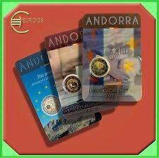 3x2 Euro € Gedenkmünzen 2014+2015 Andorra, Europarat, Wahlrecht, Volljährigkeit