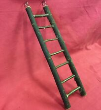 Natural Wooden Ladder 7 Steps Climb Exercise Gnaw Chew Wood Toy 12 x 3 inches