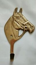Brass Horse Head Coat Robe Clothing Hook Hardware Western Country Decor