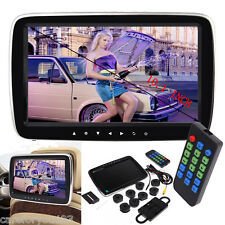 "Slim 10"" HD Digitl LCD Screen Car Headrest Monitor USB/SD MP5 Player IR/FM Game"