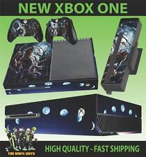 XBOX ONE CONSOLE STICKER WEREWOLF MOON SUPERNATURAL SKIN & 2 PAD SKINS
