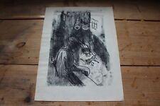 Charbon/crayon dessin-style d'entrée xim-monogrammiert-témoin dans un accident/s50