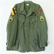 VINTAGE 1968 US ARMY VIETNAM JUNGLE JACKET LARGE 1st CAV PATCHE 25th inf Div