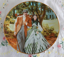 """HOME TO TARA PLATE GONE WITH THE WIND GOLDEN ANNIVERSARY SERIES  8 1/2"""""""