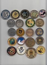 Lot of 21 different challenge coins