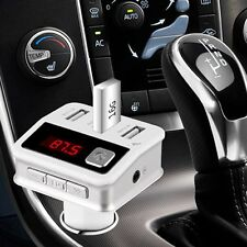 Bluetooth Car Kit Handsfree FM Transmitter Modulator MP3 Player 3 USB Charger