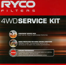 Ryco 4WD Service Air Oil Fuel Filter SET SUIT NISSAN NAVARA D22 ZD30 RSK11