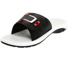 Oakley Supercoil 4 Slide Black Red 11 US Mens Sandals Casual Dress Thongs Shoes