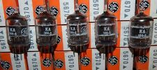 5 PIECES NOS NIB 2C51 / 5670 / 396A 1960'S GENERAL ELECTRIC BLK PLATE TUBES MINT